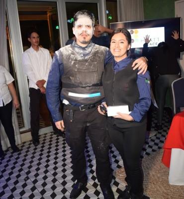 Kevin Sánchez y Nelly Caballero.