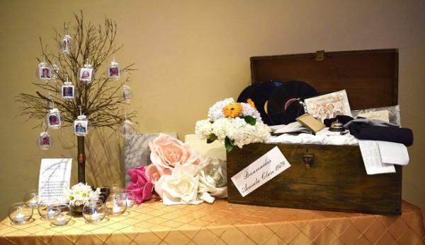 La decoración estuvo repleta de especiales detalles que les remontó a su época de estudiantes