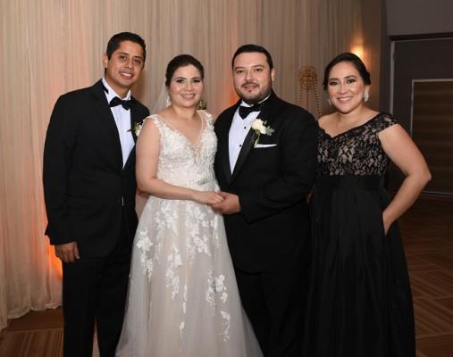 Lisandro Cubero, María Alexandra Sánchez Martínez, Marlon Obed Cardona Cerrato y Xiomara Rivera