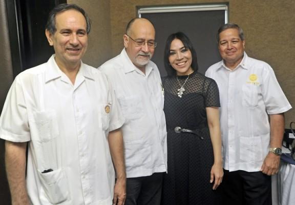 Los rotarios Román Darío, Jorge Sikaffy, María Luisa Fernández y Humberto Calderón