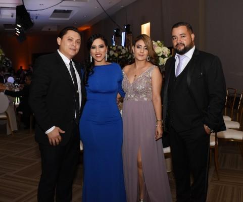 Mario Medina, Luz Coello, Marisela Tróchez y Eduardo Coello