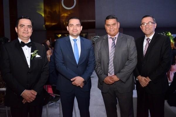 Mario Pérez, Tomas Zambrano, Julio Crivelli y Jorge Pineda.
