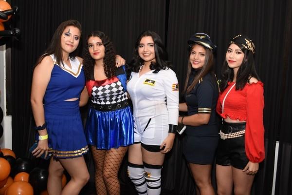 Maritza Barahona, Montserrat Mejía, Sherly Chavarría, Sofía Murcia y Lucy Molina