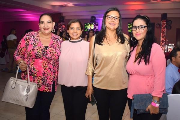 Patricia Zambrano, Vilma Fúnez, Jazmín Wilson y Marisela Zambrano.