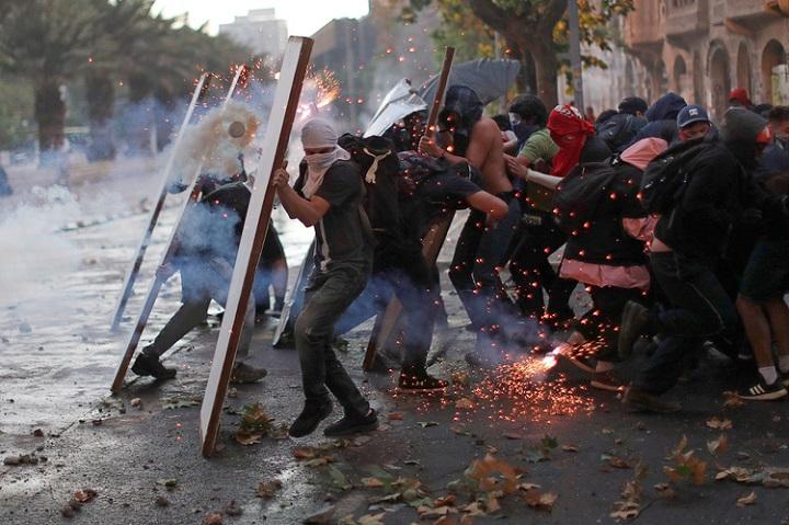 """""""Superlunes"""" de protestas en Chile: Convocados por redes sociales miles de personas volvieron a las calles"""