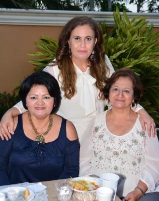 Rosa Maria Kattán, Lupita Monge y doña Mery Handal