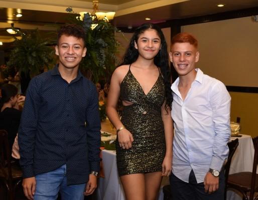 Rubén Ramírez, Melany Sánchez y Christian Tróchez
