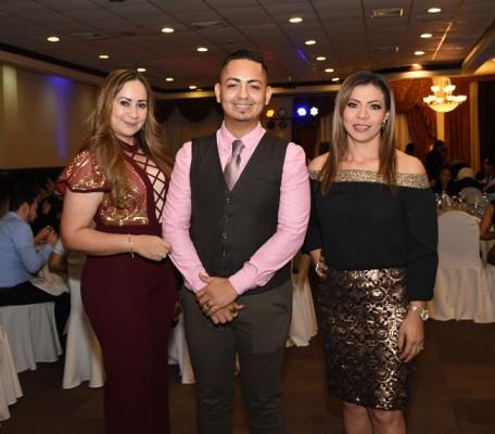 Verónica Castellón, Bryan Gómez y Nubia Zúniga
