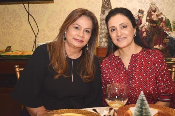 Blanca de Mejía y Ellen Qubain.