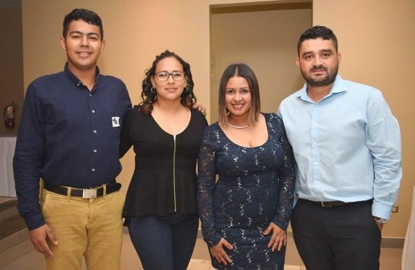 Efer Pacheco, Mélida Tabora, Michelle Ruiz y Óscar Reyes.