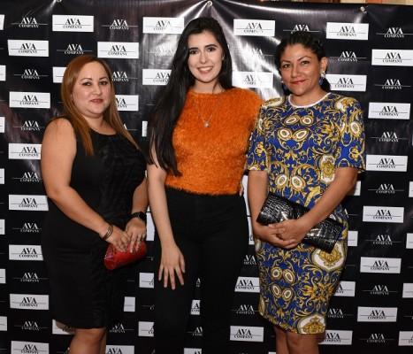 Griselda Antúnez, Leslie Rivera y Alejandra Izaguirre