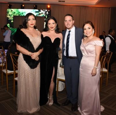 Leyla Gutiérrez, Nicole Kafie, Daniel Colina y Graciela Arita