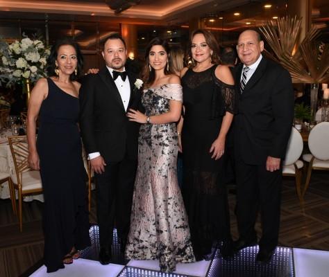 Lorette Kawas, Arturo Zuniga, Stephanie Kawas Zuniga, Marielena Sikaffy de López y Armando López