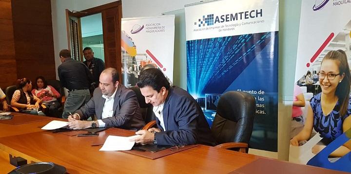 """AHM y ASEMTECH firman convenio de cooperación para fortalecer """"Maquila de Software"""""""
