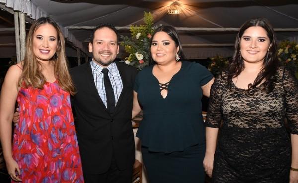 María Fernanda Mitchel, César Rivera, Indira Gutiérrez y Marcela Sales