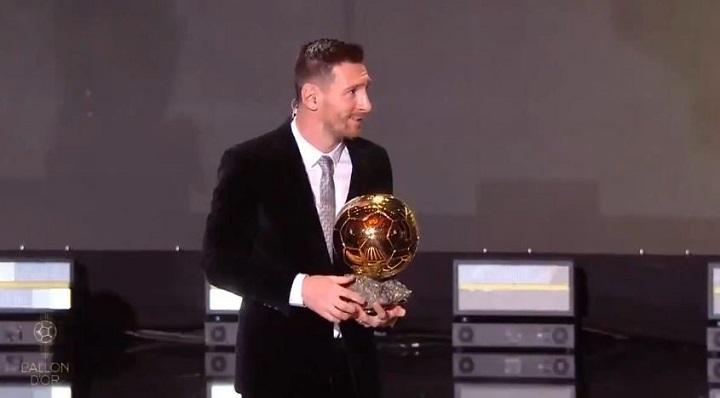Messi ganó su sexto Balón de Oro y se consagra como el mejor futbolista del mundo