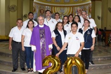 Con misa de Acción de Gracias festejan el 20 aniversario de Radio Luz