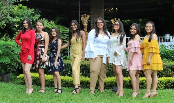 Rocío Moncada, Ariana Amador, Camila Chinchilla, Jessica Hernández, Victoria García, Deborah Madrid, Marcela Díaz y Allison García.