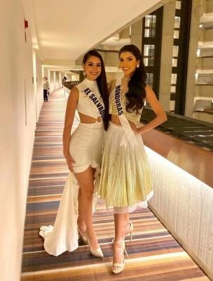 Rosemary Arauz, Miss Honduras Universo con la salvadoreña Zuleika Soler