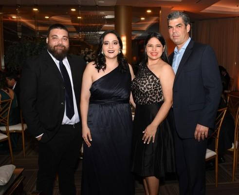 Ruddy Assaf, Claudia Rodezno de Assaf, Diana y Jorge Quintana