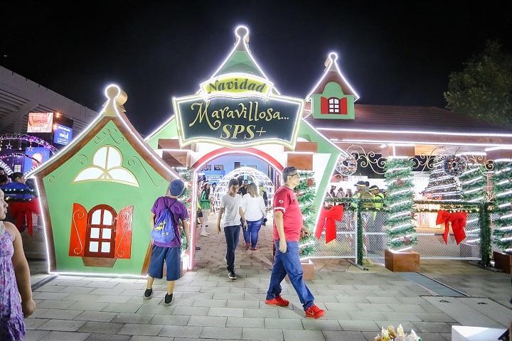 """Iluminan villa """"Navidad Maravillosa"""" en San Pedro Sula"""