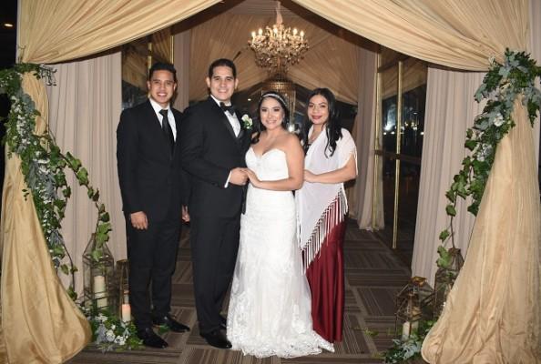 Ángel Moisés Ortega, Bryan Ortega, Mariela Aguilar y Lilian Bautista