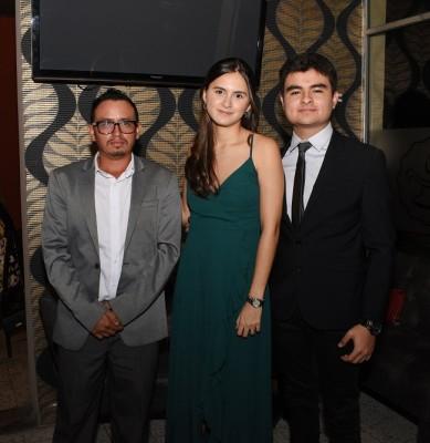 Aman Garay, Valeria Noriega y Marko López