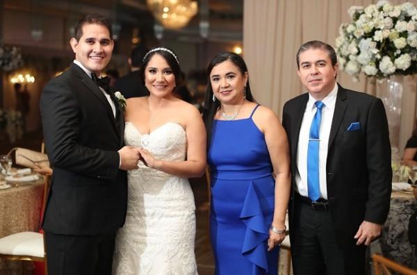 Bryan Ortega, Mariela Aguilar, Marlenne Amaya y Gamal Rumman.