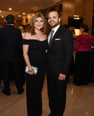 Carla Milla y su esposo, Julio Suazo