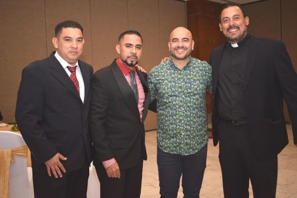 Cesar Beteta, Sergio Murillo, Johnny Valladares y Luis Elvir.
