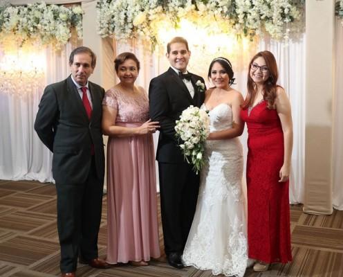 Darío Rivera, Gisela Contreras, Bryan Ortega, Mariela Aguilar y Annie Rivera.