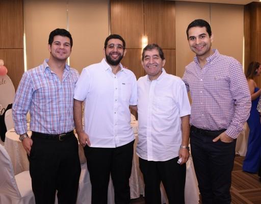 David Fattaleh, Abraham Jaar, Nabil Mustaklem y Samer Fattaleh.