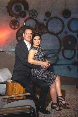 Una hermosa imagen preboda de Eva Priscila Camacho Varela y su prometido, Luis Armando Aguilar Bardales