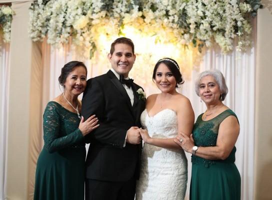 Gloria Fuentez, Bryan Ortega, Mariela Aguilar y Ada Ortega