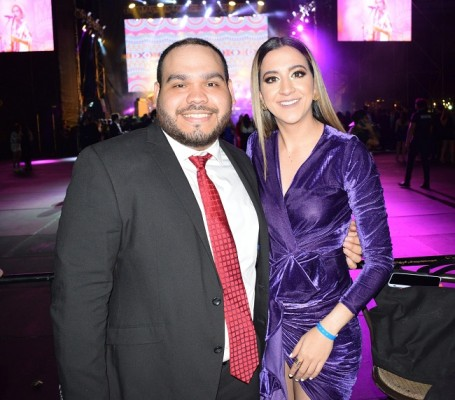 Javier Brito y Leyla Sansur