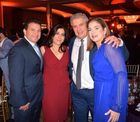 Jesús y Giselle Canahuati, Juan Carlos Sabillón y Ruth Marie Canahuati de Sabillón
