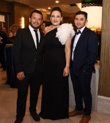 Jonathan Nistal, Vanessa Funes y Héctor Girón