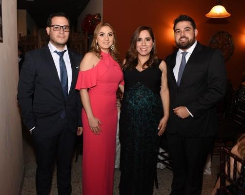 Jorge Ruíz, Francia Vallecillo, Vanessa y José Luis Vallecillo.