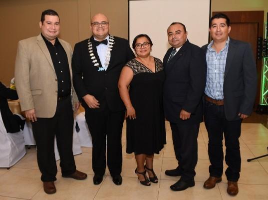 Julio Panchamé, Luis Buendía, Linda Buendía, Marbin Carpio y Gamaliel Rodezno