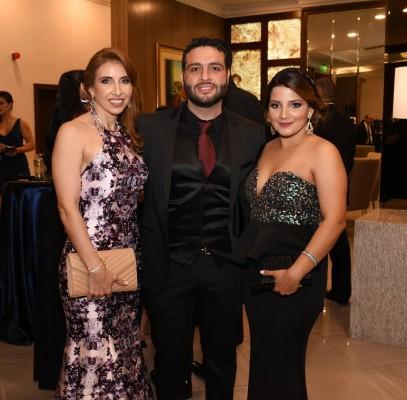 Leiby Gabrie, Nicolás Gabrie y Marinela Díaz