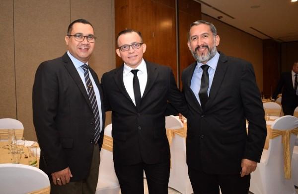 Leonel Molina, Raúl Nehring y Mauricio Marquéz.
