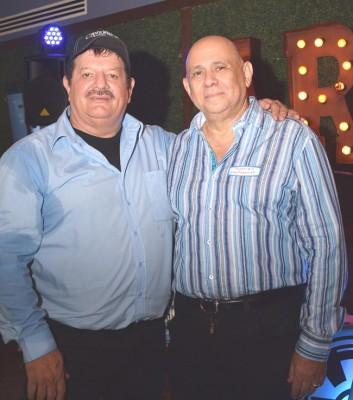 Los organizadores del reencuentro: José German Paz y Rolando Monterroso.