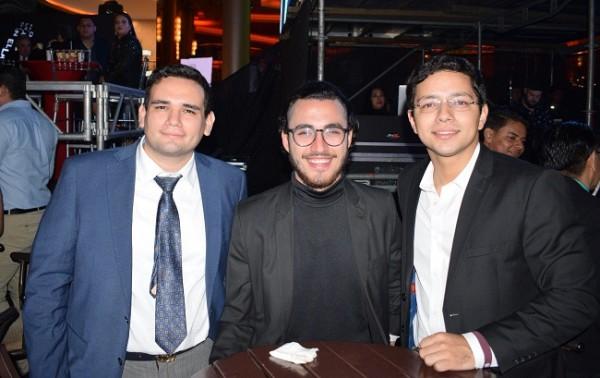 Luis Leiva, Jesús Icaza y George Soler.