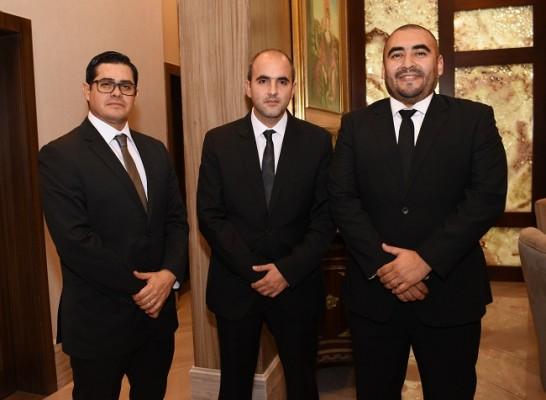 Mario Tróchez, Andrés Handal y Mario Aguilar