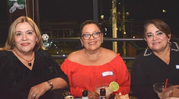 Marlin Guerrero, Alma Elena Talbott y Rosina Dubón.