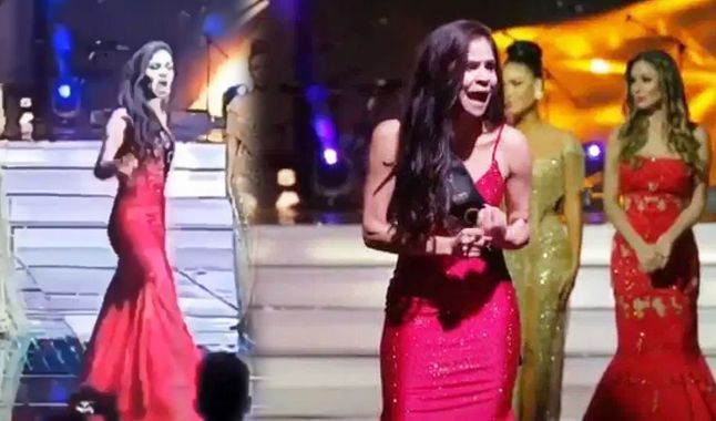 Reina colombiana protagoniza escándalo en pleno escenario por trampa en el Miss Global 2020