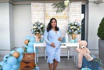 Detalles en azul para el baby shower de Vivian Trejo de Gaído