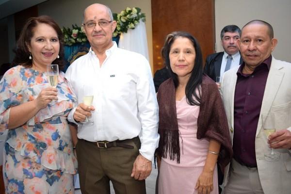 Rosa María Zerón, Abilio Alvarado, Blanca Callejas y Carlos Solórzano.