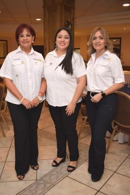Verena Cálix, Ana Álvarez y Patricia Girón.