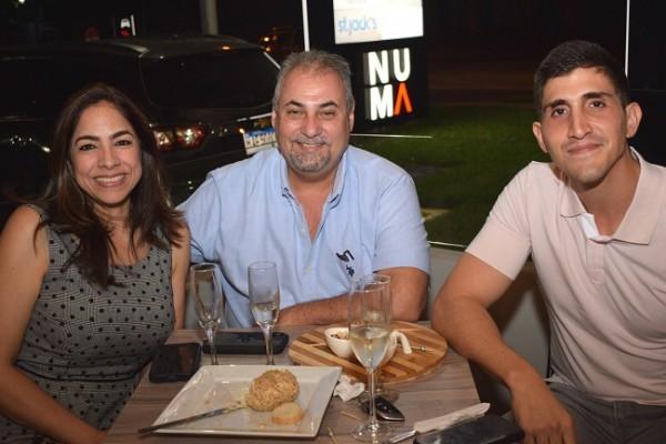 Victoria Rodríguez, Wenceslao Lara y Alejandro Facusse.